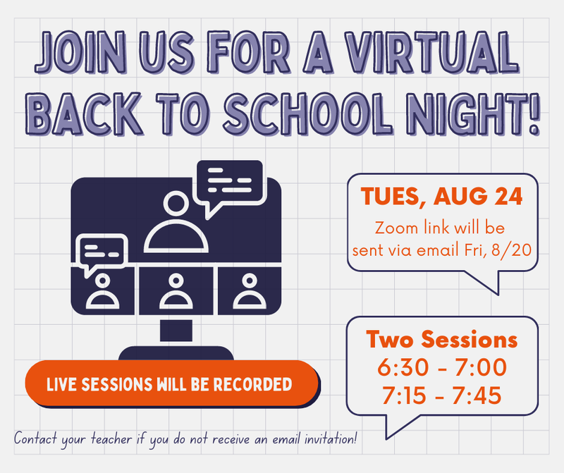 Back to School Information 2021-2022 Thumbnail Image