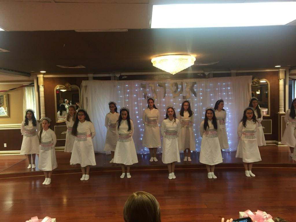 Girls performing