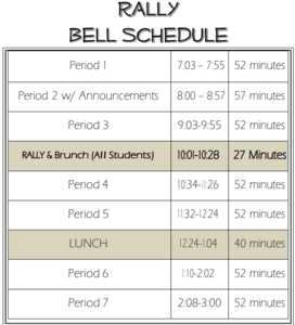 rally schedule