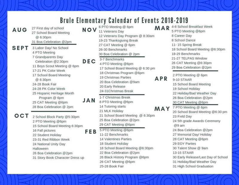 Events Calendar 2018-2019 Featured Photo