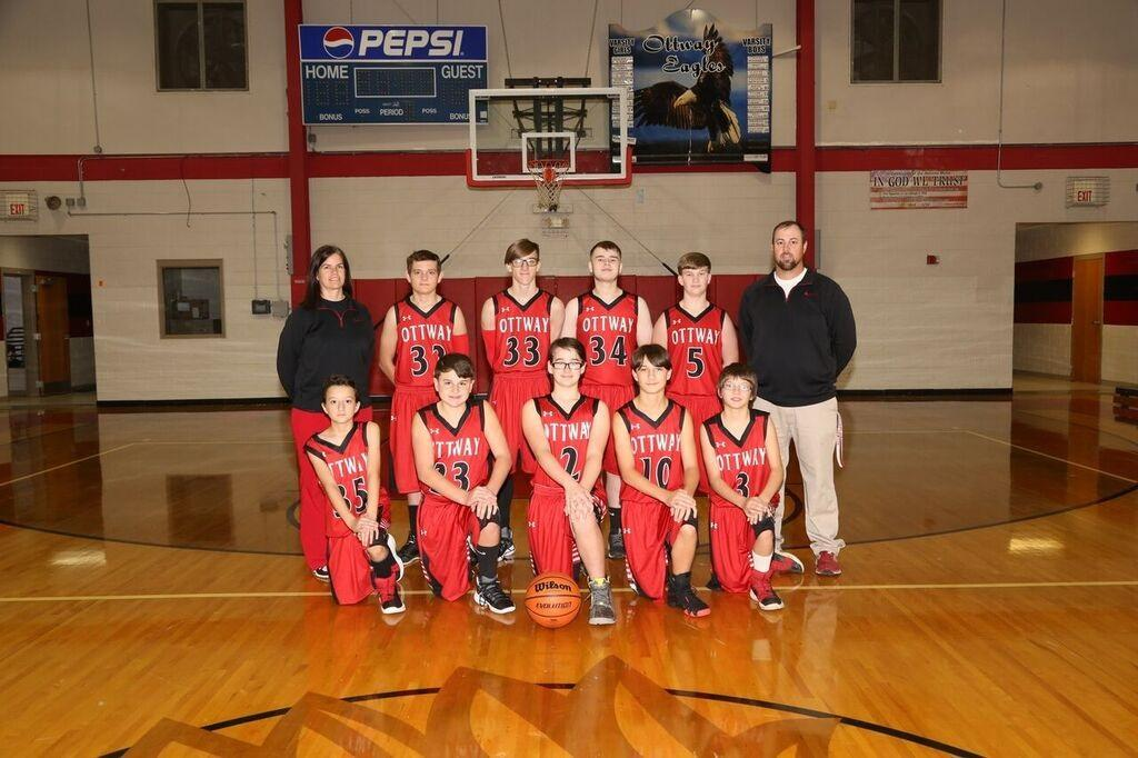 Ottway Boy Basketball players 2018-2019