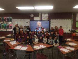Edgewood Academy third-graders Skype with Dr. Jane Goodall