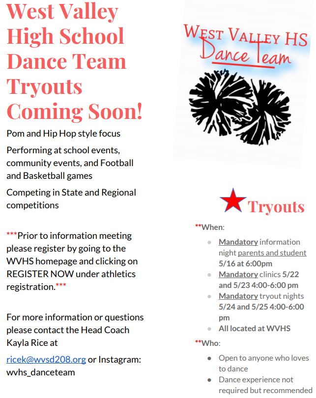 Dance Team Flyer