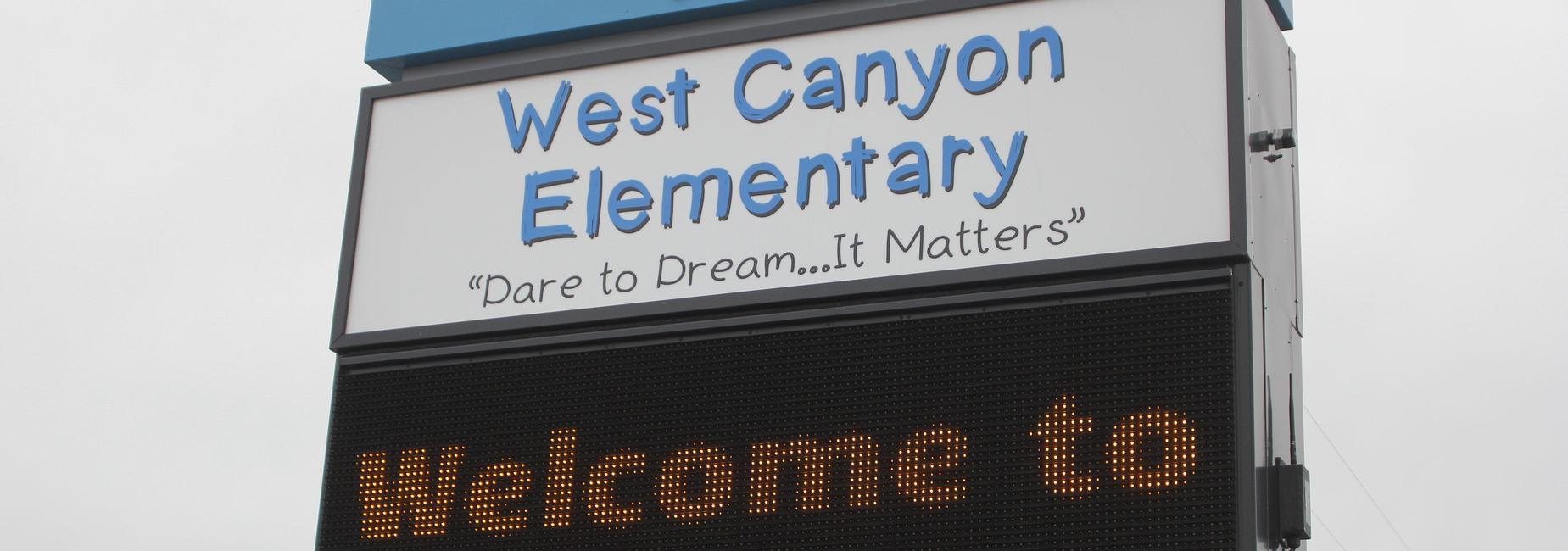 West Canyon sign