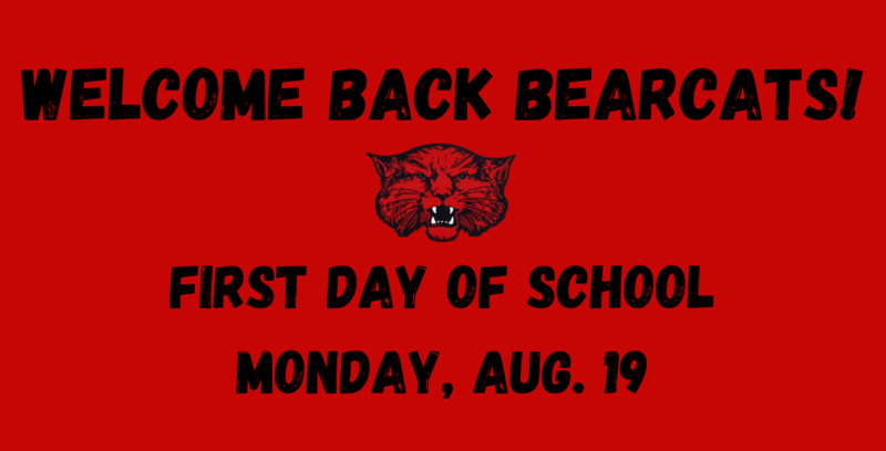 First Day of School - Aug. 19