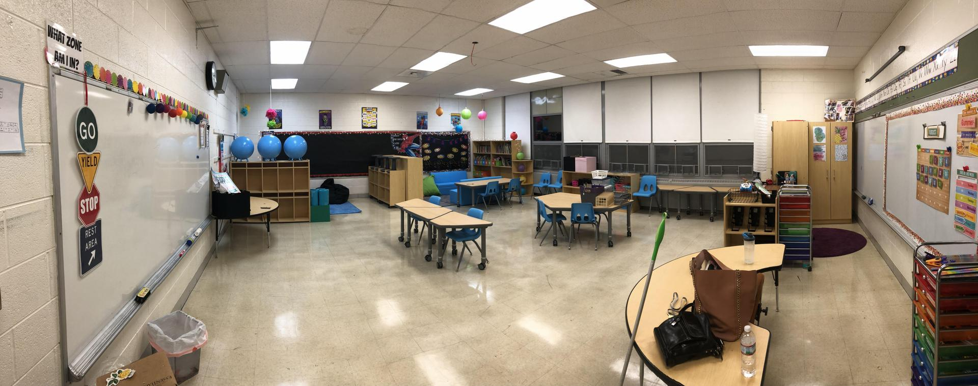 Panoramic view of our classroom.