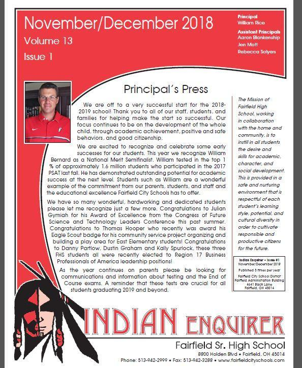 November/December Edition of FHS Indian Enquirer Now Online! Featured Photo