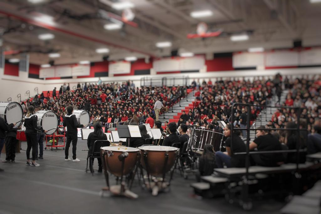 Picture of students performing at  Veterans Day Assembly