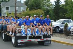 BUHS Football team in the Homecoming Parade