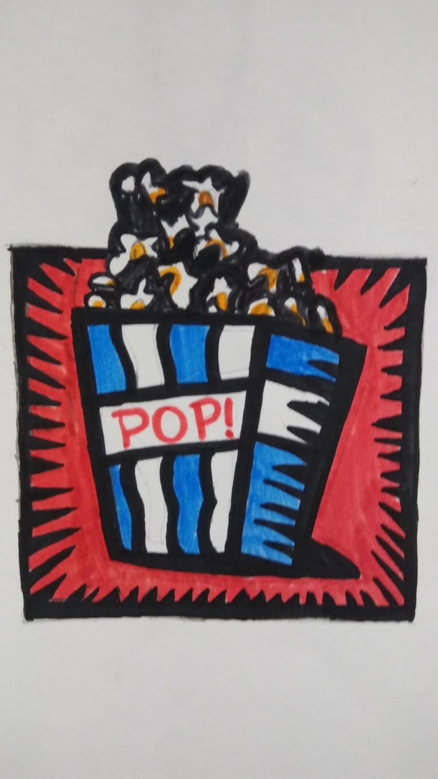 Landmark Student Drawing of Popcorn