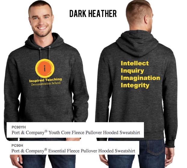 Heather Gray Hooded Sweatshirt