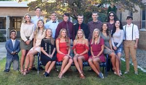 Picture of entire Senior Homecoming Court