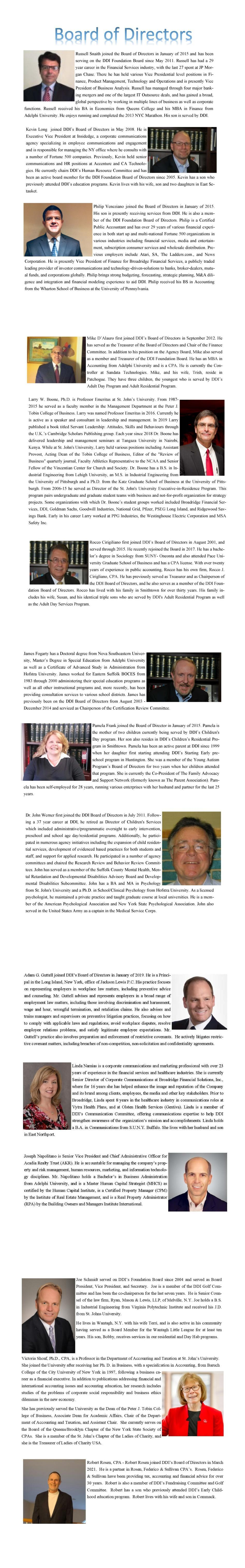 DDI Board of Directors