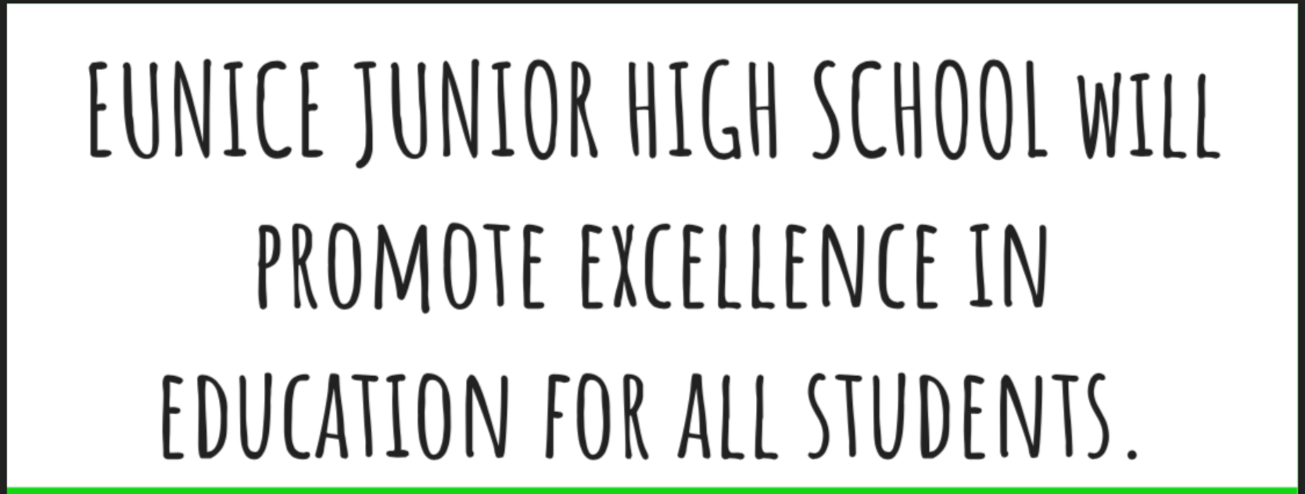 EJHS Vision Statement