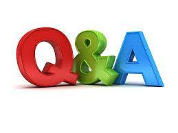 Image that reads Q&A to announce Q&A dates, no link