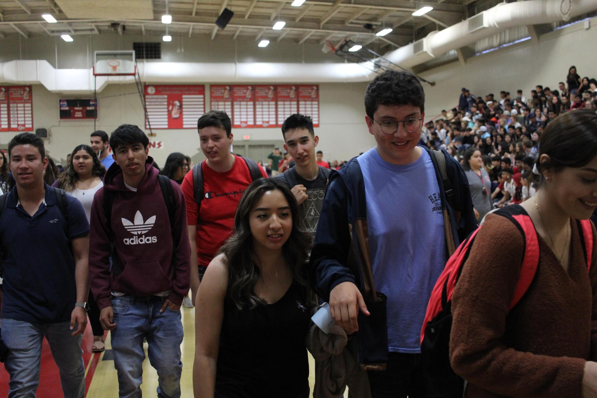 Students at the Senior Appreciation Rally