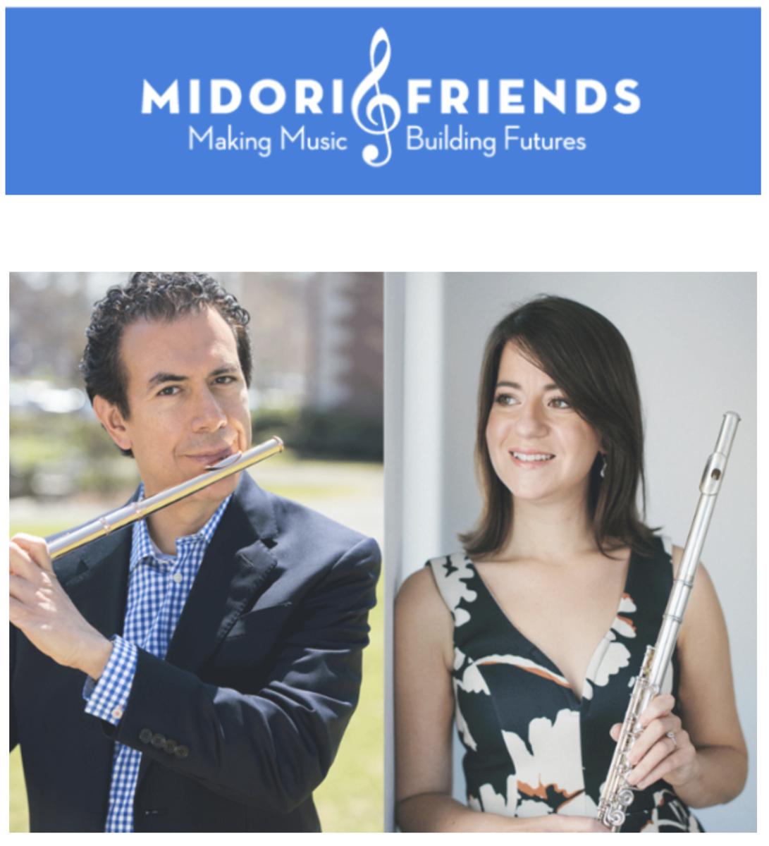 2 artists holding flutes