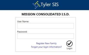 Parent Portal Log In page