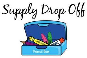 box with school supplies