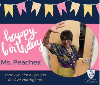 Happy birthday Ms. Peaches
