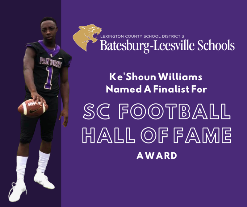 2020 B-L High School Grad Announced As Finalist For SC Football Hall of Fame Award
