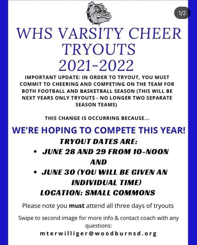 WHS Varsity Cheer Tryouts 2021-2022 / Pruebas de porristas Varsity de WHS Featured Photo