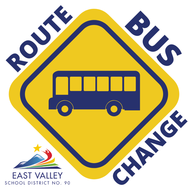 Bus Route Change with school zone sign