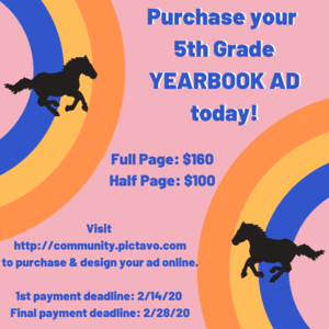 Yearbook Ads on sale now.