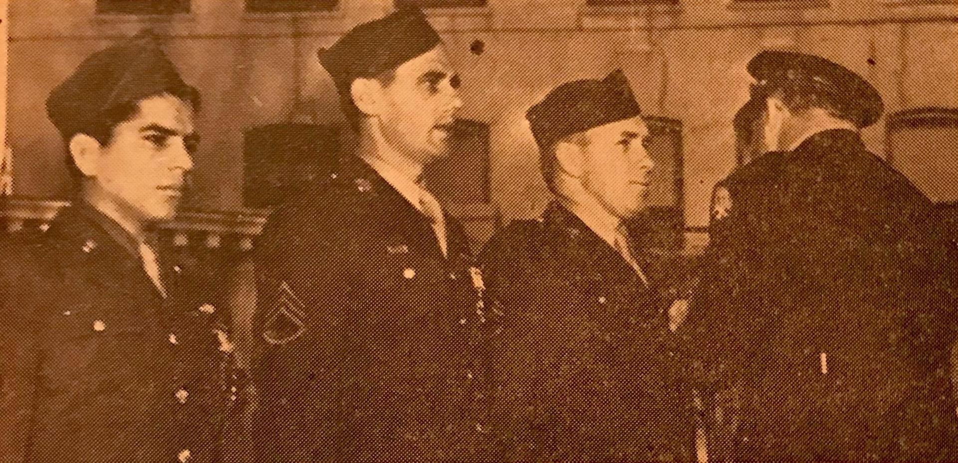 Sergeant Frank Briones (left) flew 60 missions in the pacific