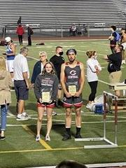 L. Decker and M. James earned Outstanding performer awards at the D6 track and field meet on 5/18/21