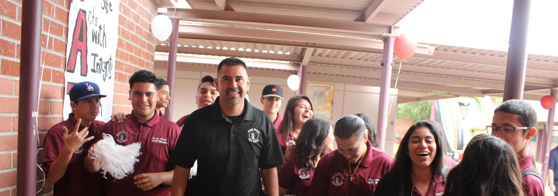 Principal Gonzalez with ASB