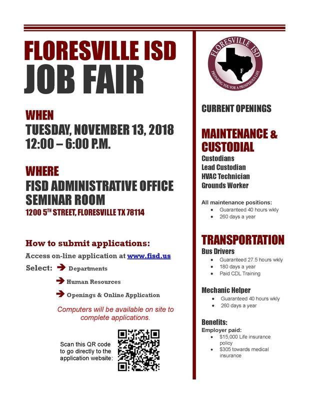 FISD Job Fair, November 13, 2018 Featured Photo
