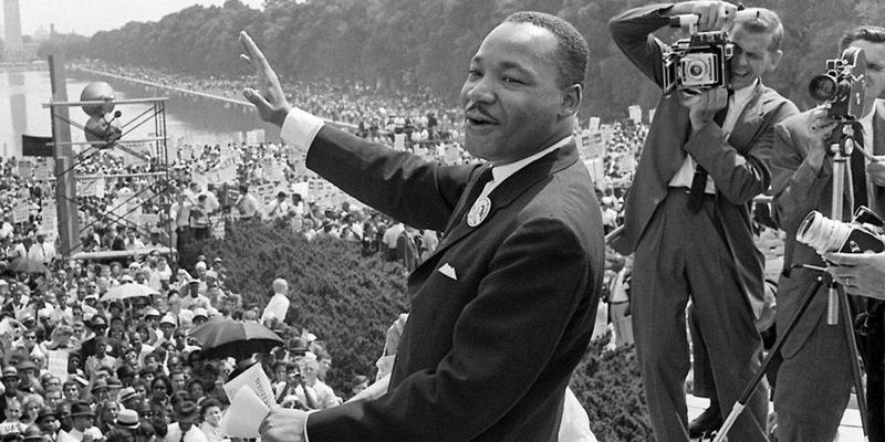 Dr. King speaks at march in Washington DC
