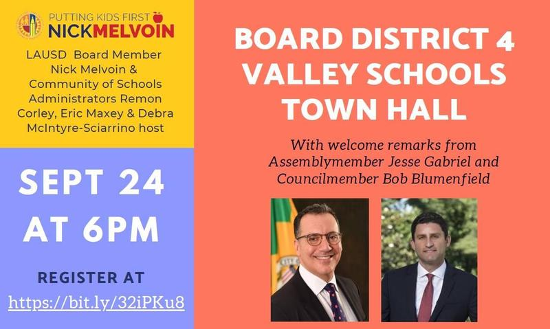 Board Member Melvoin Town Hall Featured Photo