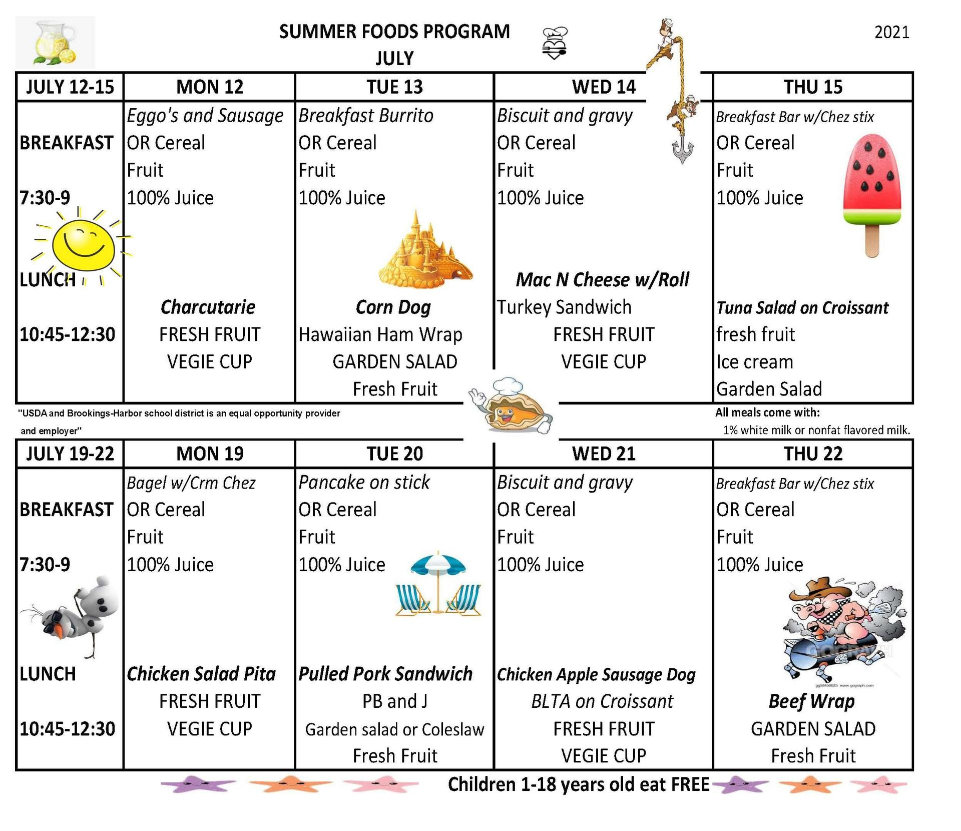 summer menu 2