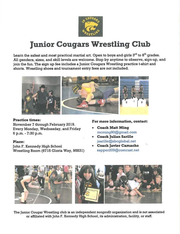 Junior Cougars Wrestling Club is looking for participants! Thumbnail Image
