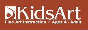 KidsArt Logo in brown box
