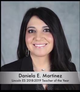 Photo of Lincoln Elementary Teacher of the Year Daniela Martinez