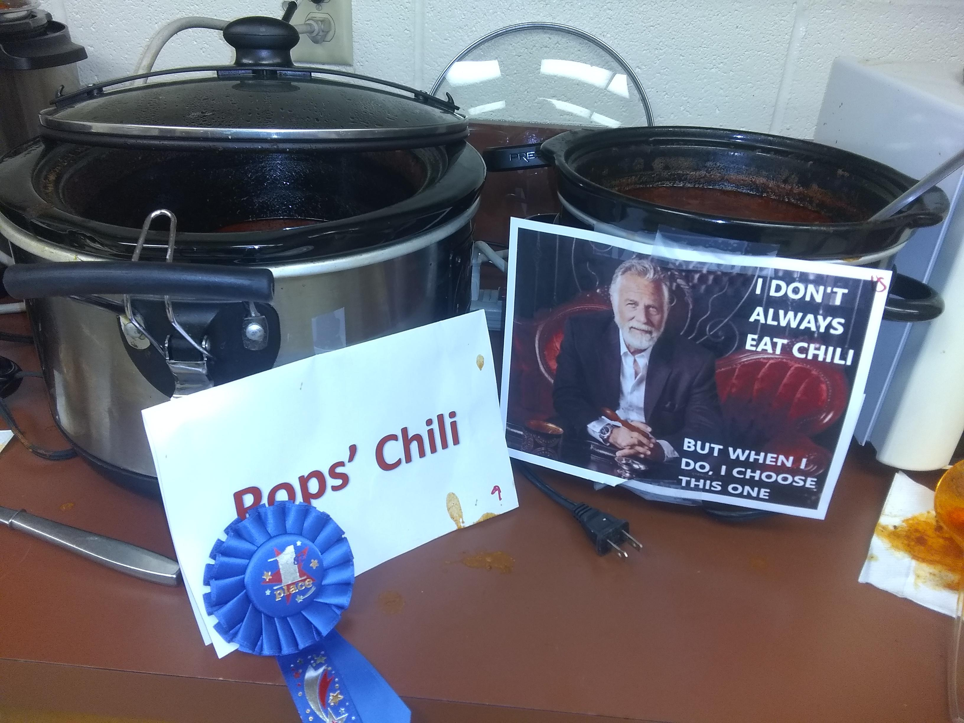 picture of chili cooking contest winner