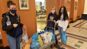 OLSH students participating in food drive for Our Lady's Pantry