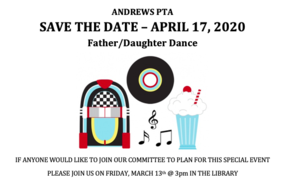 Father/Daughter Dance April 17, 2020