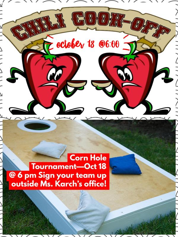 Chili cookoff and cornhole