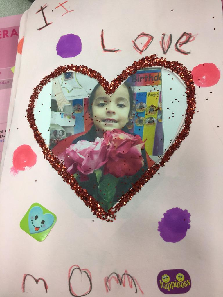 girl in heart card made for valentines day
