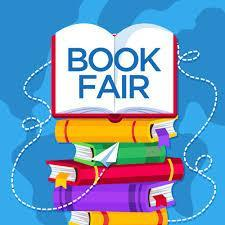 colorful copy of images of books and the word book fair
