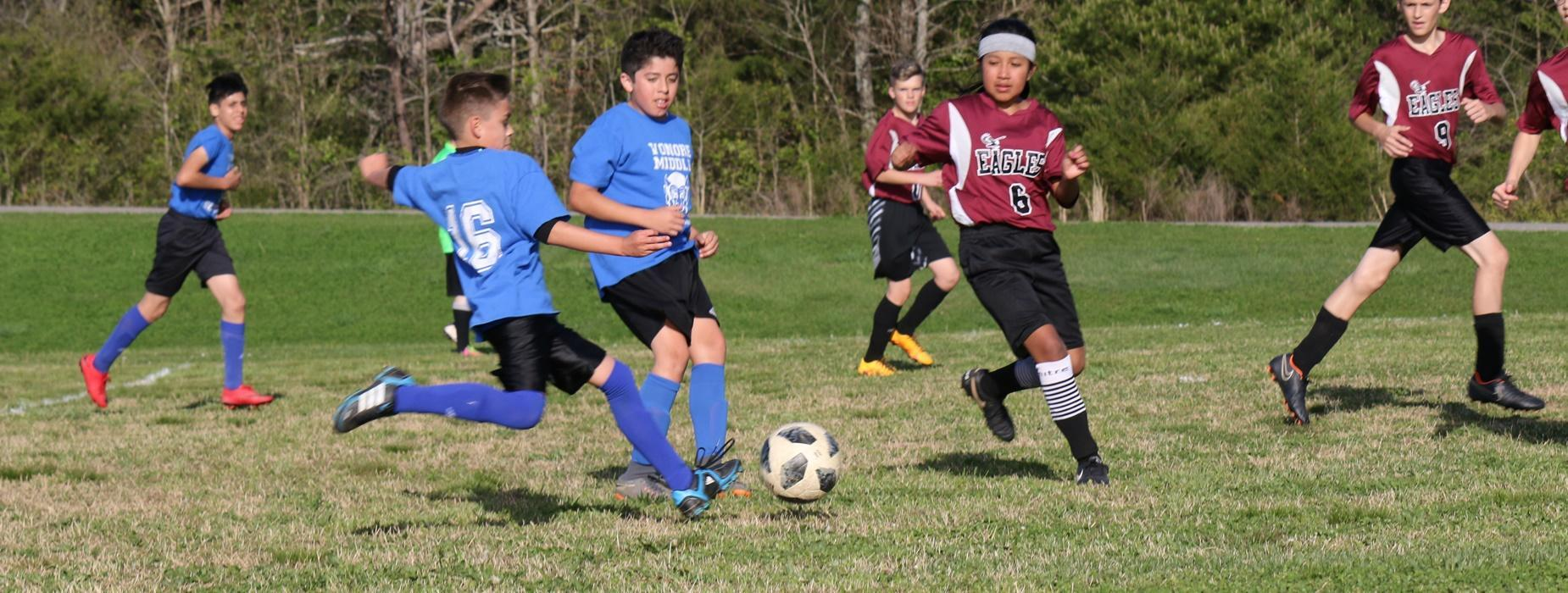 VMS students playing soccer