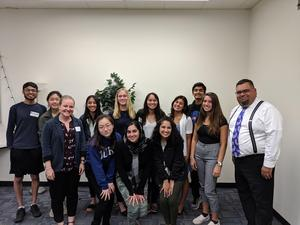 new superintendent student advisory committee and student board members