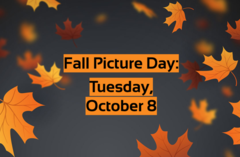 Fall Picture Day is Tuesday, October 8