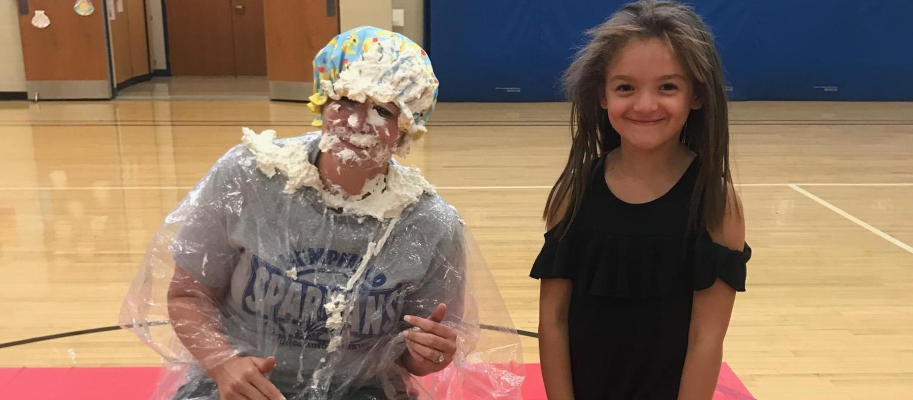 principal getting pie in face