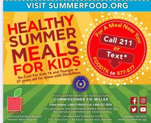 Summer Meals for Kids