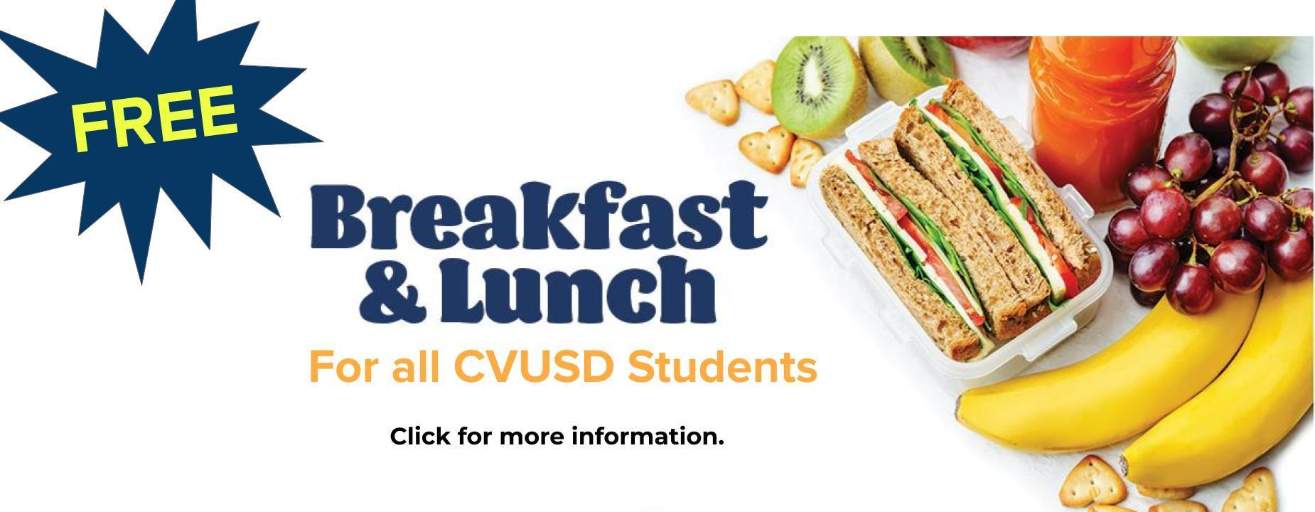 Free lunch for cvusd students 2021-2022
